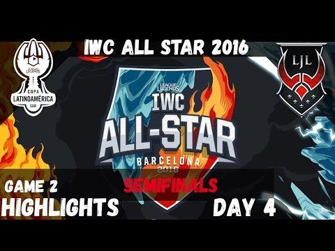 🔥 LAS vs LJL ️❄️ Game 2 Highlights   IWC All Star Barcelona 2016 D4   Latin America South vs Japan