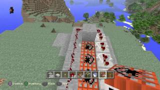 Minecraft: PlayStation 4 Edition:Tutorial #1 how to build a tnt cannon