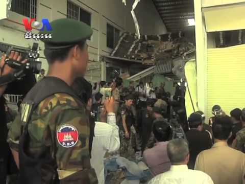 Cambodian - At least two workers were killed when the ceiling of a warehouse fell in at a shoe factory in Cambodia, Cambodia Minister of Social Affairs Ith Sam Heng said...