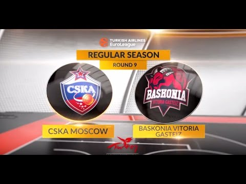 EuroLeague Highlights RS Round 9: CSKA Moscow vs. Baskonia Vitoria Gasteiz