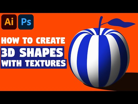 3D Shapes With Textures | Adobe Illustrator Tutorial