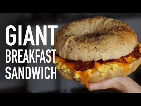 How to Make a Giant Breakfast Sandwich