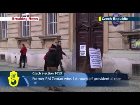 Czech presidential elections: Zeman wins first round - will now face Karel Schwarzenberg