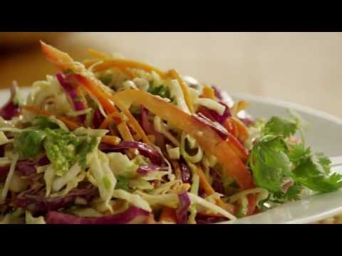 Salad - Get the 5-star recipe for Asian Coleslaw at http://allrecipes.com/recipe/asian-coleslaw/detail.aspx The secret to this deliciously different coleslaw? It's a...