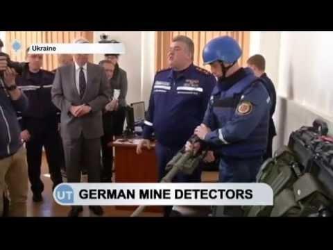Mine Detectors Donated to Ukraine: Equipment will help find explosives in Ukraine's east