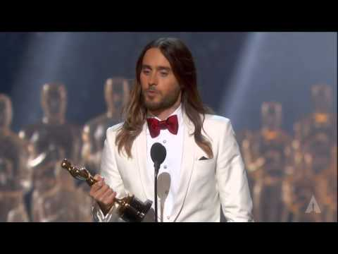 Actor - Anne Hathaway presenting Jared Leto with the Oscar® for Best Supporting Actor for his performance in
