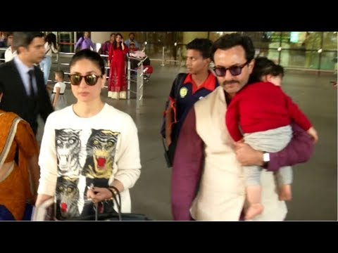 Saif Ali Khan & Kareena Kapoor Spotted At Mumbai Airport