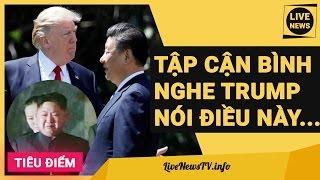TẬP CẬN BÌNH NGHE DONALD TRUMP NÓI ĐIỀU NÀY, LIỀN BỎ RƠI ĐỒNG MINH TRIỀU TIÊNVà vấn đề hôm nay LiveNewsTV muốn đề cập đó là vấn đề Triều Tiên. Hãy quên sự kiện Syria đi, vấn đề thực sự căng như dây đàn chính là khả năng Mỹ, Nhật, Hàn…và đặc biệt là Trung Quốc sẽ trừng phạt Triều Tiên vì vụ thử hạt nhân. Thật bất ngờ khi Tập Cận Bình ngày hôm nay, 12/4 đã điện đàm với tổng thống Mỹ Donald Trump về vấn đề Triều Tiên và đưa ra phát ngôn ngoại giao chính thức đe dọa sẽ trừng phạt đơn phương nếu Triều Tiên dám có những hành động nóng vội. Thêm vào đó, Mỹ & Nhật dự định tổ chức tập trận và đưa ra phương án đánh Bình Nhưỡng trong trường hơp xấu nhất. Ở chiều ngược lại, ông Kim Yong Un đã đưa tình trạng quân đội vào báo động đỏ và tuyên bố rằng Triều Tiên không ngại dung vũ khí hạt nhân để trả đũa nếu bị Mỹ tấn công. Có thể thấy, để giành được những đặc quyền kinh tế, Tập Cận Bình không từ mọi thủ đoạn, thậm chí là bỏ rơi đồng minh và trừng phạt đồng minh. Chuyện gì sẽ xảy ra tiếp theo?Subscribe để cập nhật tin mới nhất http://bit.ly/LiveNewsTVTham gia fanpage http://facebook.com/TVLiveNews