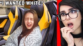 SPOILED GIRL Gets a LAMBO for her Birthday...
