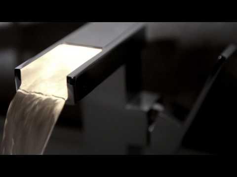 Hudson Reed Rubinetto Miscelatore Lavabo Monocomando a Cascata con Luce LED