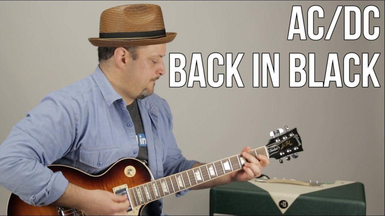 AC/DC – Back in Black – Guitar Lesson – How to Play Electric Guitar Tutorial