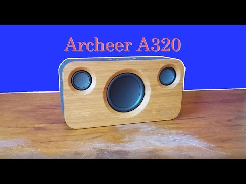 Archeer A320 review bamboo speaker