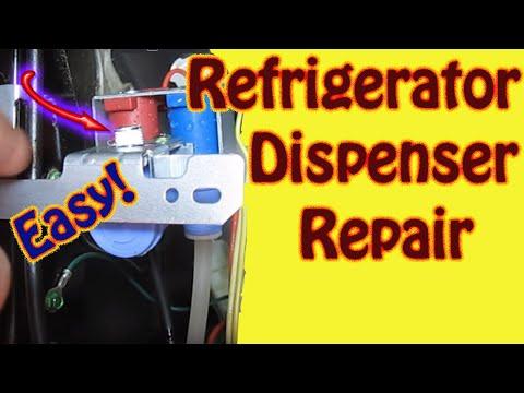 Hotpoint \ GE Refrigerator Repair – Water Inlet Valve Replacement – Leaking Water Dispenser