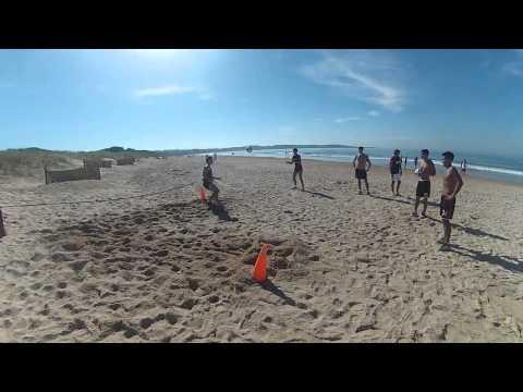 #PretemporadaRiver Trabajos en la arena de Punta del Este