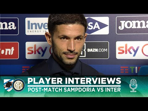 SAMPDORIA 1-3 INTER   SENSI + BASTONI + GAGLIARDINI INTERVIEWS [SUB ENG] видео