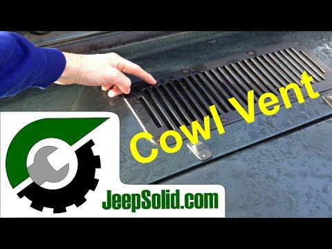 Cowl vent: Jeep dash leak