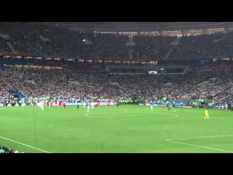 Final whistle Croatia vs England semi final world cup 2018 11/7/2018 Croatia wins 2-1