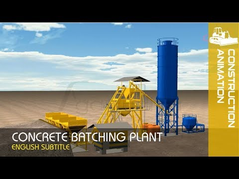Concrete Batching Plant Works - Ready Mix Machine | Mixing Plant