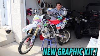 8. LITTLE BROTHER GIVES HIS CRF150R A MAKE OVER !
