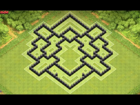 Clash of clans th8 best clan war defence base anti giant anti dragon