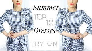 Here are my top 10 favourite summer dresses! They are all high-street, affordable and under £90. ♡ Instagram: mariaxxd...