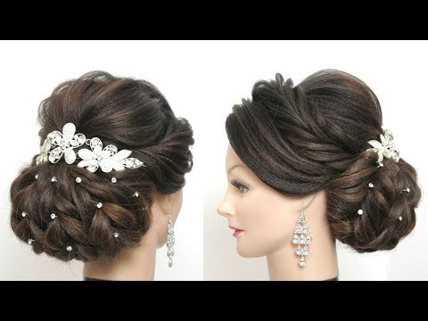 New hairstyle - New Bridal Hairstyle For Long Hair. Wedding Updo Tutorial.