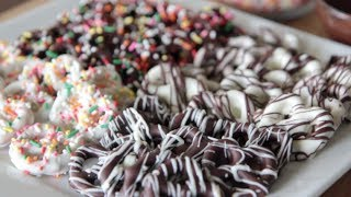 How to Make Chocolate Covered Pretzels ~ Tutorial