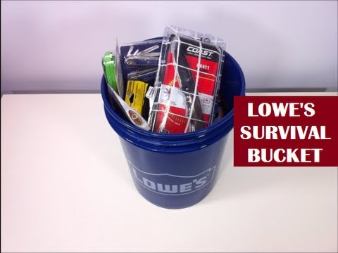 Lowe's Survival Kit - For Real? YES INDEED! | Bug Out Bucket? (видео)