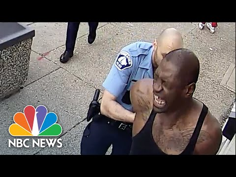 New Security Video Shows Events Leading Up To George Floyd's Arrest | NBC News NOW