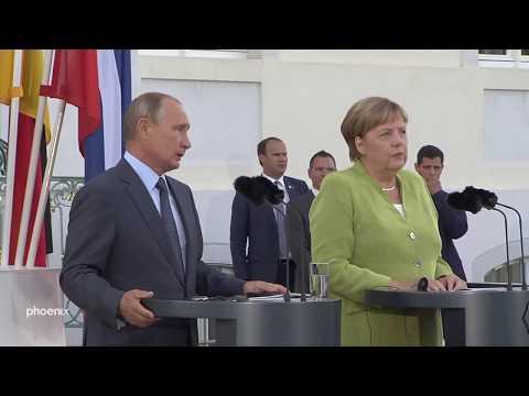 Treffen der Kanzlerin mit dem russischen Präsidenten in Meseberg am 18.08.18