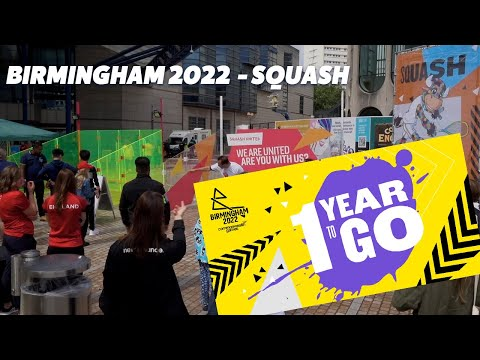 Squash at Birmingham 2022 - One Year to Go