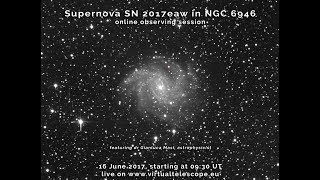 """Last month, the bright supernova SN 2017eaw was discovered in the wonderful spiral galaxy NGC 6946, nicknamed """"Fireworks"""",..."""