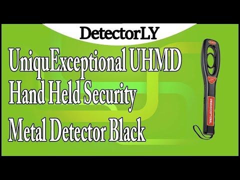 UniquExceptional UHMD Hand Held Security Metal Detector Black Review