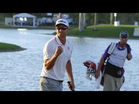 Adam Scott: Clutch par to win Cadillac Championship: Video