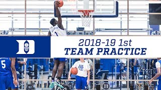 Duke Basketball 18-19: First Practice (7/25/18)