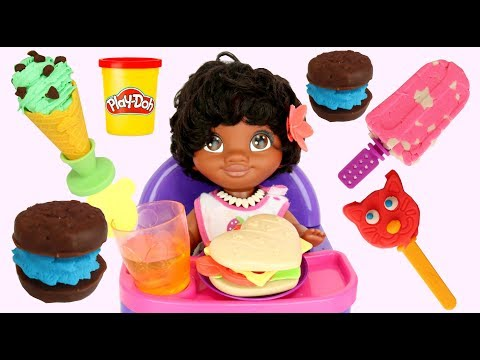 Play doh - Making Play-doh Frozen Treats & Deserts with Toy Set, Baby MOANA & Maui