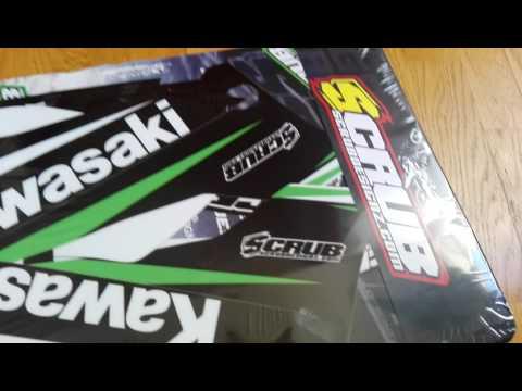 Kawasaki KLX 250S Scrubdesingz stickers