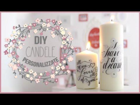 diy - come realizzare delle candele personalizzate