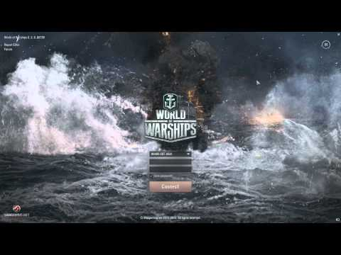World of warships login screen