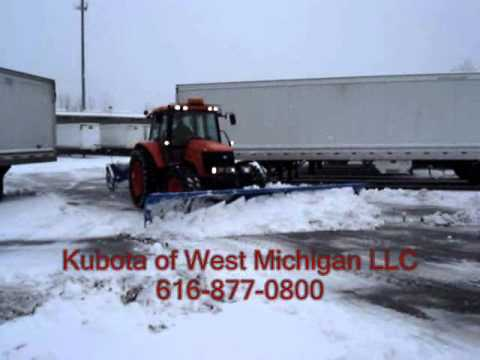 Kubota West Snow Plow Tractor