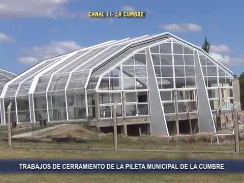 FALTA PINTAR Y LLENAR LA PILETA: CASI LISTOS LOS TRABAJOS DE CERRAMIENTO Y CLIMATIZACION DE LA PILETA