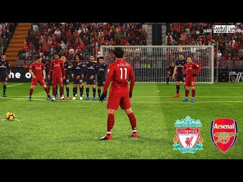 PES 2019 | Liverpool Vs Arsenal | Mo Salah Free Kick Goal | Gameplay PC