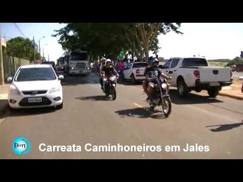 Jales - Sem APOIO da Associação Comercial e Classe Política, caminhoneiros mostram sua força pelas ruas de Jales