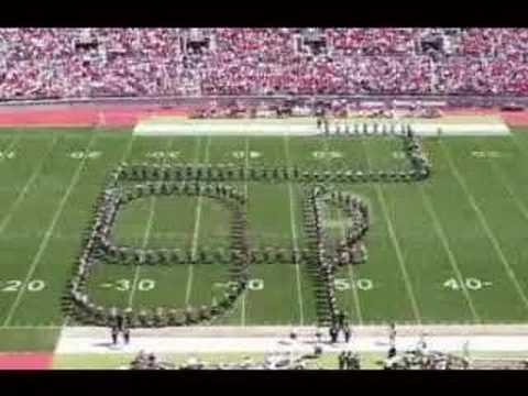 marching - the OSU Band performs script ohio.