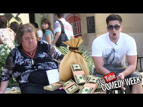 MONEY BAG PRANK w/ TOM GREEN (Youtube Comedy Week)_Legjobb vide�k: Vicces