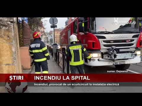 Incendiu, în Spitalul CF din Cluj-Napoca