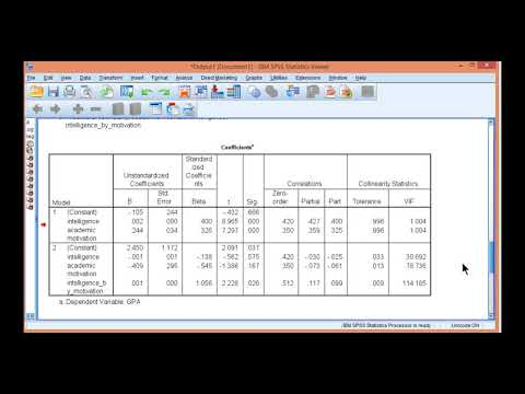 V14.12 - Moderated Multiple Regression in SPSS