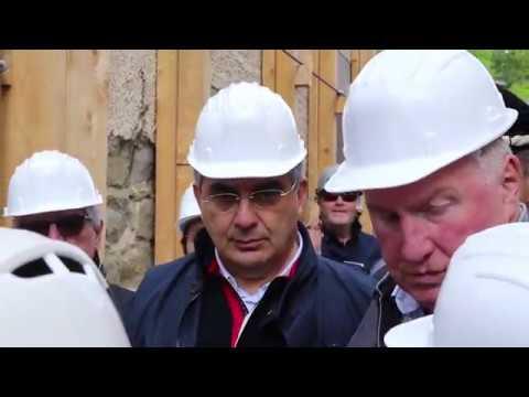 Terremoto, delegazione del comitato europeo delle Regioni in visita a Campotosto VIDEO