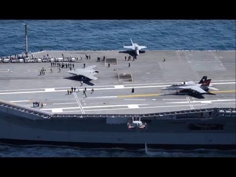 US Navy – X-47B UCAS First Touch & Go Landing Tests On USS George H.W. Bush (CVN 77) [1080p]