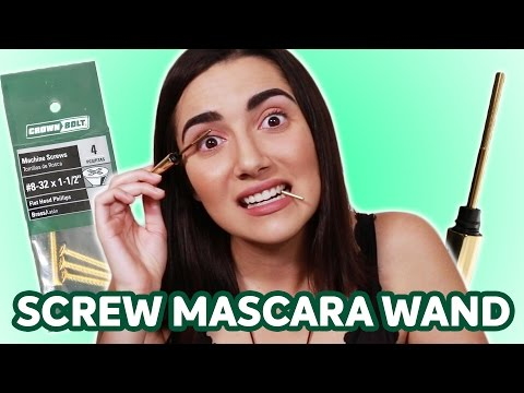 Stainless Steel Mascara Wand vs Screw